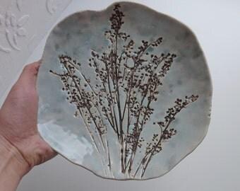 """Ceramic plate """"evening grass"""""""