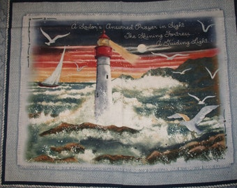 Light House with restless sea & sailors Prayer, Springs,Panel