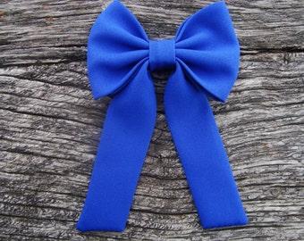 Bow tie booch pin royal blue