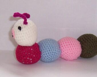 Cute CATERPILLAR, bug Handmade Crocheted toy/doll Animall ,Hand Crocheted Amigurumi toy