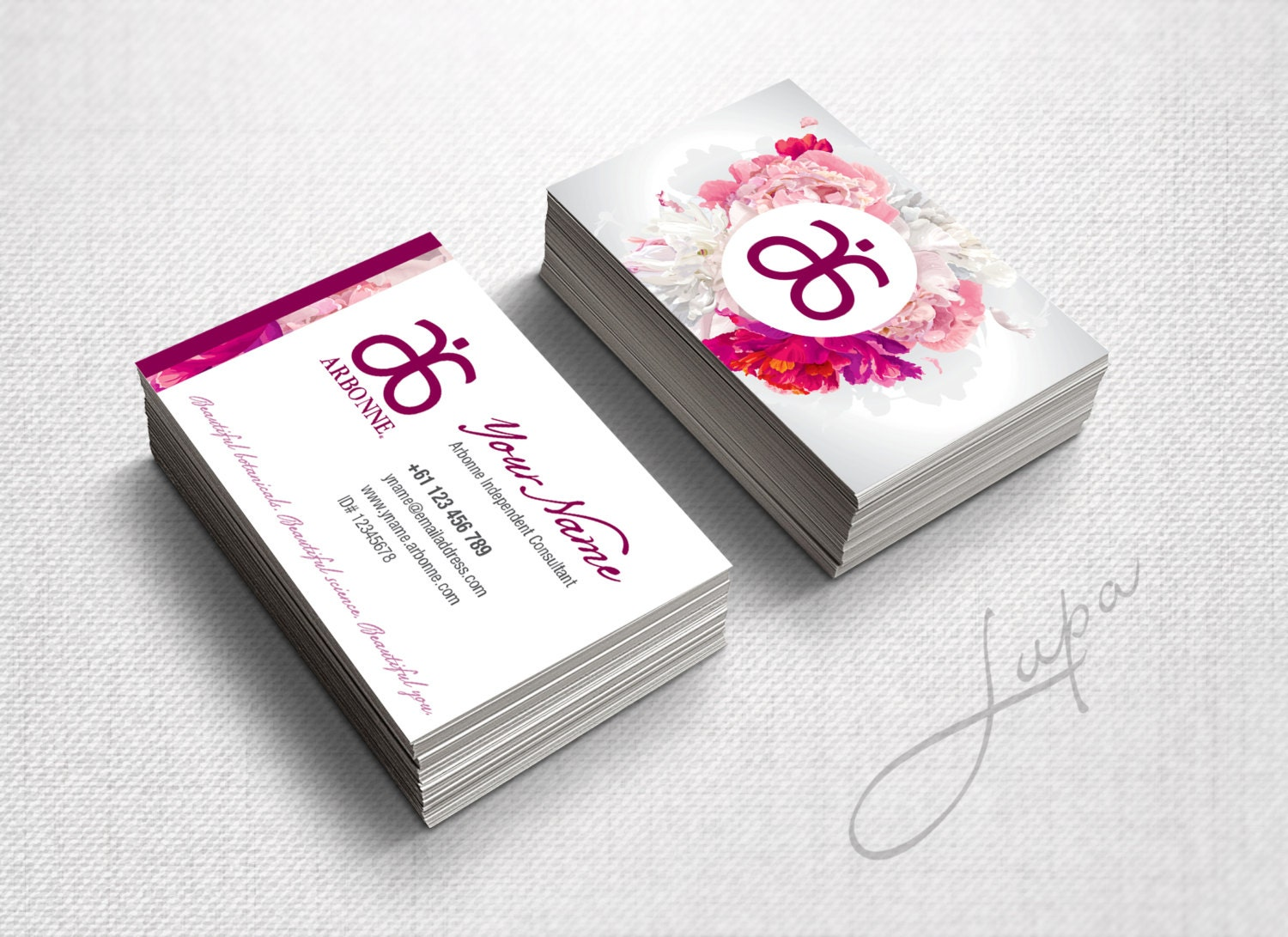 Arbonne Business Cards 07 digital files supplied only