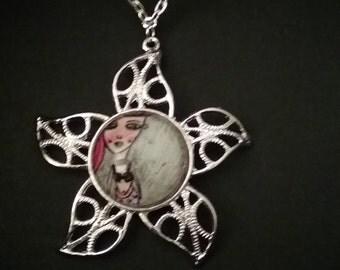 Azalea mermaid-star necklace
