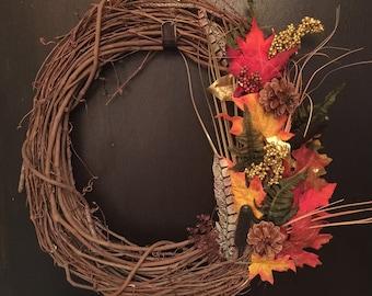 Festive Holiday Grapevine Wreath-