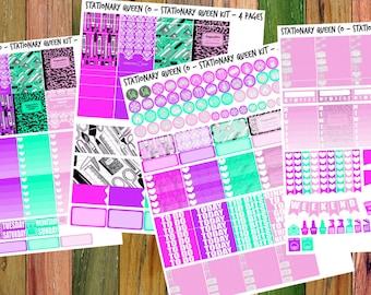 Stationary Queen - Printable Planner Kit - EC Vertical/Happy Planner