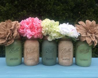 Shabby Chic Flower Vases