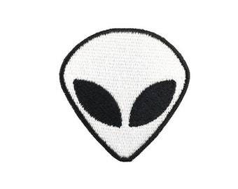 alien patch eye patch cool patch back patch white head embroidered patch full embroidery embroidered applique badge iron on patch sew patch