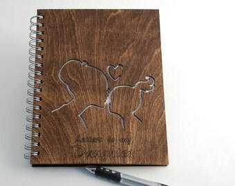Wood spiral Notebook... Letters to my daughter