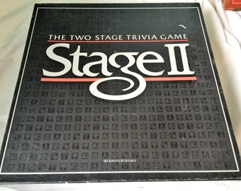 Stage 2 trivia Game 1985 Milton Brandley game