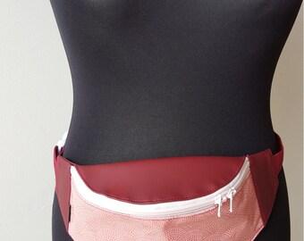 Belt bag PANYMOON - red wave - gefüttert-strap adjustable
