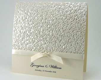 ELEGANT HANDMADE Wedding Invitations - SAMPLE