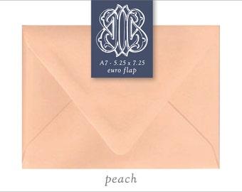 Peach | 10 Blank A7 Euro Envelopes