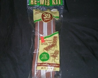 Package of lawn chair replacent webbing kit