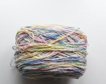 Multicolour yarn, cotton yarn, knitting yarn, crochet yarn, pastel yarn, pastel colour yarn, light yarn, DK yarn, cheap yarn, yarn lot