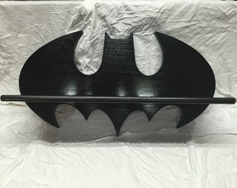 Wooden Batman shelf
