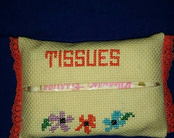 Cross Stitched Tissue Holder