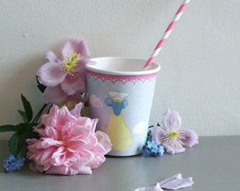 Set of Eight Fairy Tale Paper Cups