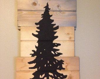 Hand painted cedar wood wall decor