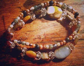 Blue Chalcedony Honey Jade Bracelet