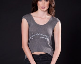 Draped Open Back Top (T120104G-SCRIPT)