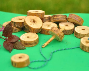 Lacing Wooden Toy/ Wood Lacing Set/ Waldorf Toy/Educational Toy/ Baby Toy/ Wooden Toy