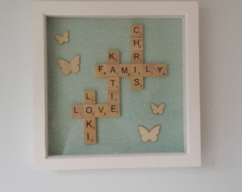 custom made scrabble frame - perfect for any gift or occasion