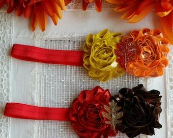 Baby Headband , Fall Headbands, Orange Headbands, Reborn Headbands, Reborn Fall Headbands, Baby Shower Gift, Photo Prop
