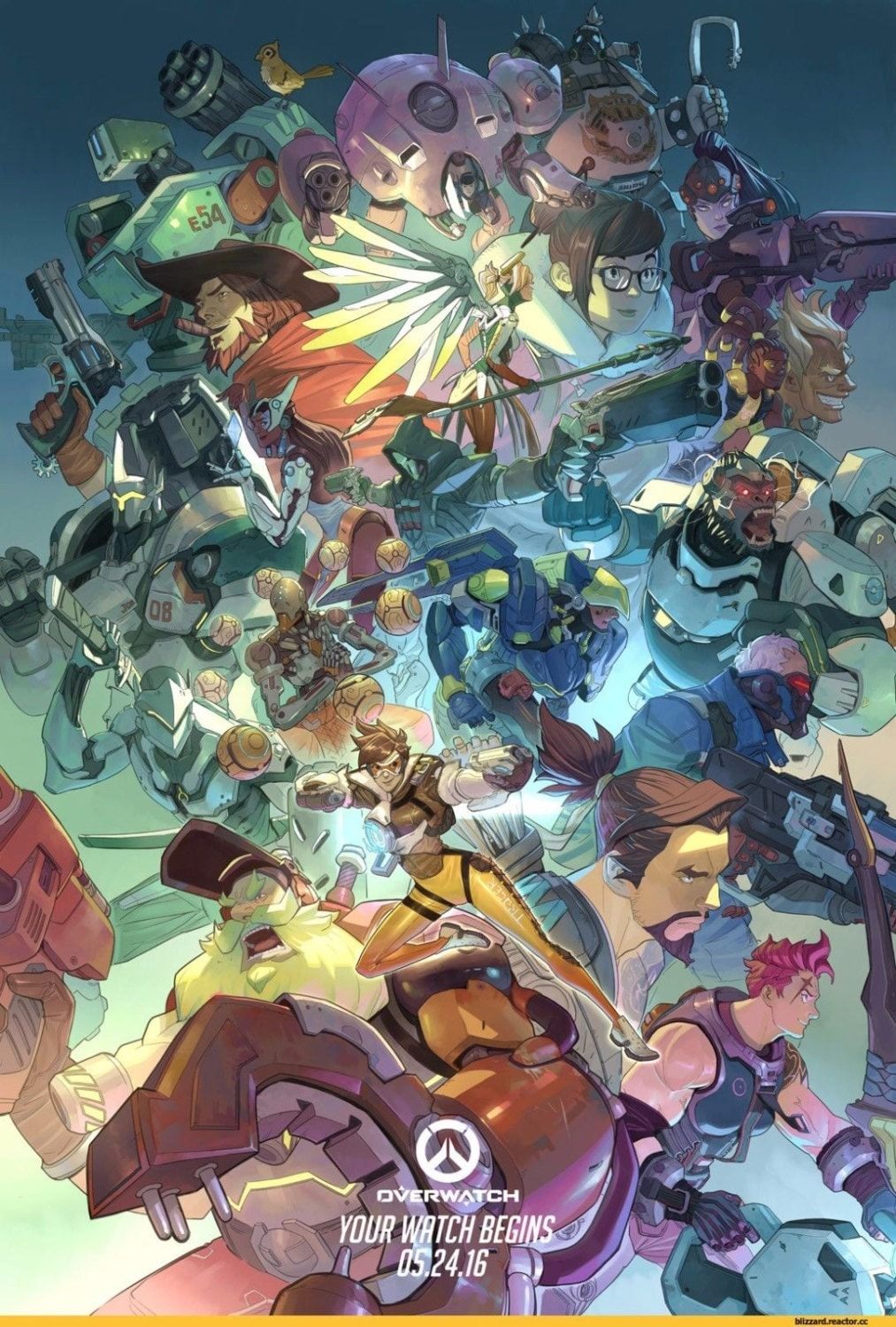 Overwatch Game Poster Wall Decoration Creative Poster Custom