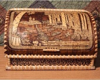 "Breadbasket of birch bark ""Outskirts"""