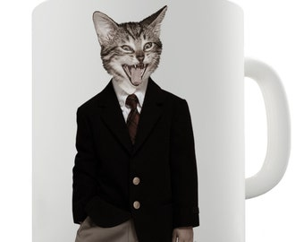 Mr Cat Ceramic Tea Mug