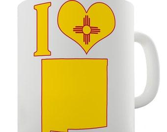 I Love New Mexico Ceramic Tea Mug