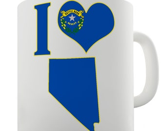 I Love Nevada Ceramic Funny Mug