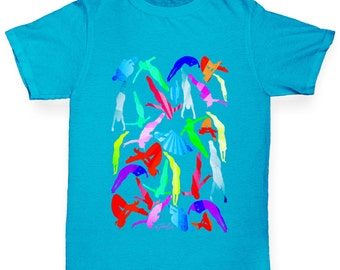 Boy's Diving Rainbow Collage T-Shirt
