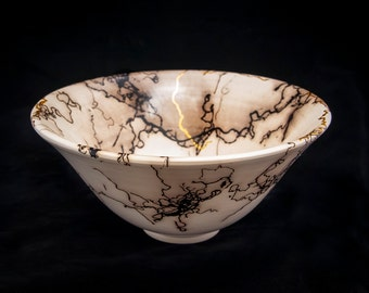 Horsehair Bowl with Gold