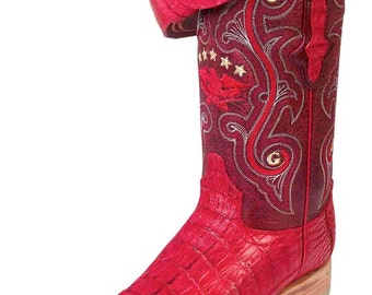 the general boot Cowgirl exotic/a 6963-R skin alligator tail red ID 10080