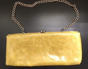 Hobo International Yellow Leather Handbag, Purse