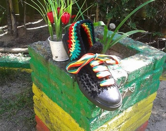 Rasta Sneakers,Crochet