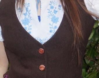 Bespoke tailored ladies waistcoat