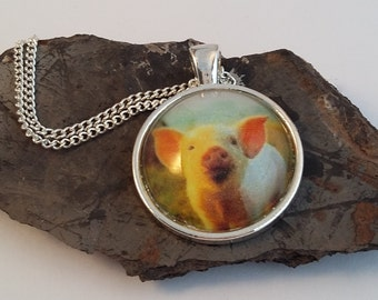 Piglet Picture Necklace