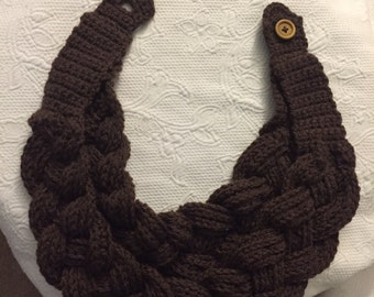 Braided layered cowl