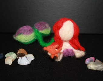 Needle felt Mermaid fairy (Ariel inspired)