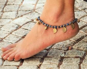 Lapis Lazuli Anklet // Lapis Lazuli Jewelry // Anklet // Ankle Bracelet // Handmade Anklet // Women Anklet // Made To Order Anklet