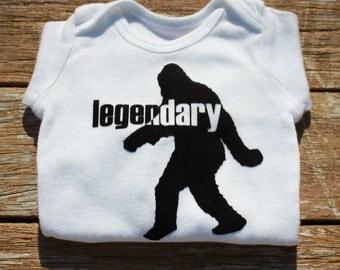 "Bigfoot / Sasquach ""Legendary"" baby onesie"