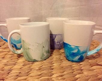 Marble Hand Dipped Mugs