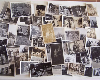 50 Vintage Photographs People & Places 1930s-1950s Fashion Hairstyles Trends