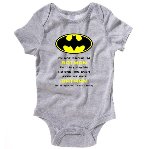 Baby boy bodysuit, up all knight, up all night, batman onesie, super hero onesie, baby shower gift, baby boy gift, new baby gift LittleLadiesDesign 4 out of 5 stars.