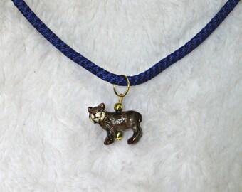 Kentucky Wildcat Necklace, wildcat jewelry, University of Kentucky mascot, handmade
