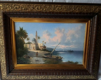 Landscape Marocco oil painting