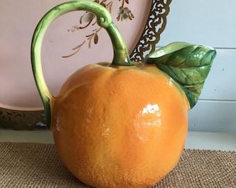 Orange Ceramic Pitcher (Italian)