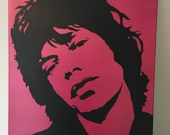Mick Jagger 16x20 acrylic on canvas