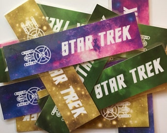 Star Trek Enterprise Laminated Bookmarks - 3 Colors!
